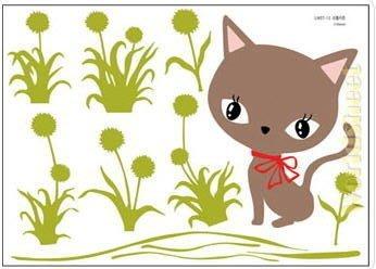 【皮蛋媽的私房貨】韓國進口壁貼&壁紙*室內設計/裝飾*超CUTE小貓咪