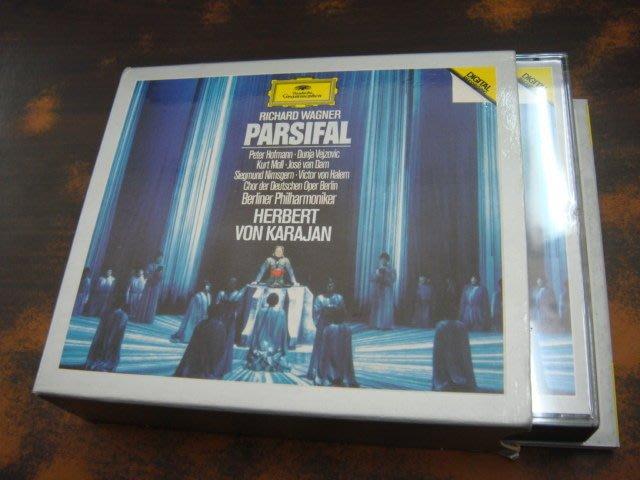 好音悅 半銀圈 Karajan 卡拉揚 Wagner 華格納 Parsifal 帕西法爾 4CD DG 德PMDC版