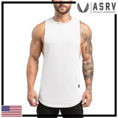 瘋狂金剛▸ 白 ASRV SilverPlus® Muscle Tank 大袖孔防臭快乾坦克背心 運動 健身