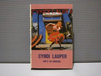 Cyndi Lauper 辛蒂羅波 She's So Unusual 有歌詞 有現貨 無黴 喜馬拉雅原殼錄音帶 卡帶 出