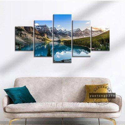 現貨促銷~無框畫 北歐ins掛畫 自然風景 加拿大 世界著名風景 洛基山脈 現代藝術裝飾畫 生日禮物 無框畫 房間客廳壁