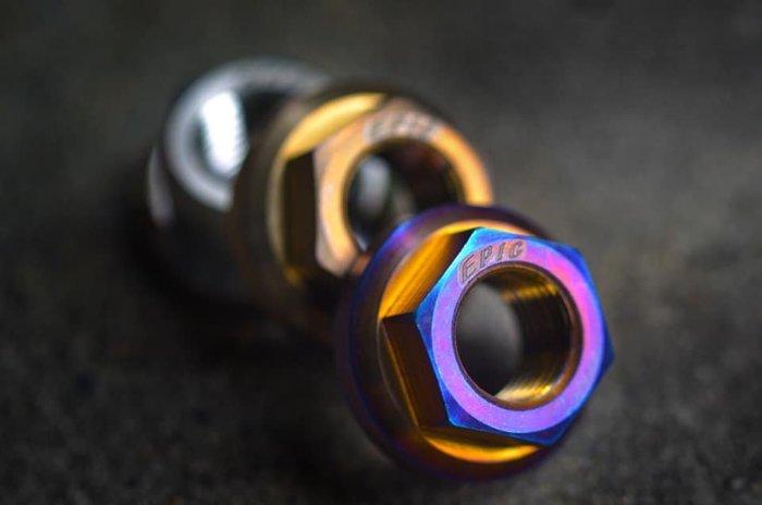 Hz二輪精品 EPIC M12 鈦合金 燒鈦 螺母 前輪心 前輪芯 普利盤 楓葉盤 螺帽 GOGORO2 S2 勁戰