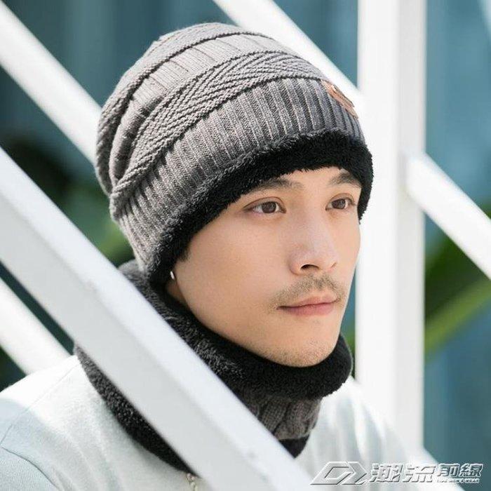 男士帽子冬季韓版潮保暖加絨毛線帽冬天青年針織套頭帽棉騎車防風