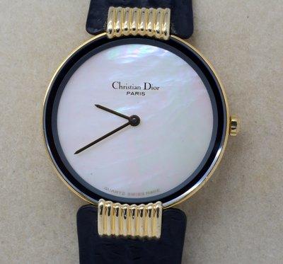 《寶萊精品》Christian Dior 迪奧金白彩蝶女子錶