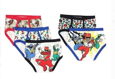 【ToyGo】美國購回: 金剛戰士 金剛戰隊 Power ranger 兒童 純棉 內褲 5件組(超值款)