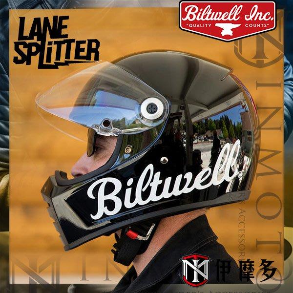 伊摩多※美國 Biltwell Lane Splitter 全罩安全帽 復古 美式Gloss Black Factory