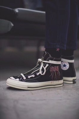 Mr. Completely x Converse Anger Chuck Taylor High 1970 帆布板鞋666