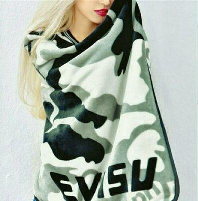 Face 雜誌 X 周柏豪 X EVISU blanket 迷彩 絨 被 冷氣被 毛氈 毯