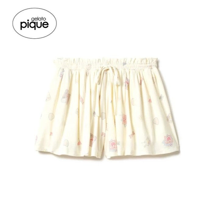 日本品牌 gelato pique2018春夏新品 小清新圖案印花居家睡褲尺寸F