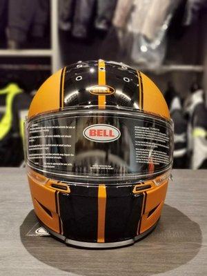美國BELL ELIMINATOR 全罩式安全帽 消光橘黑