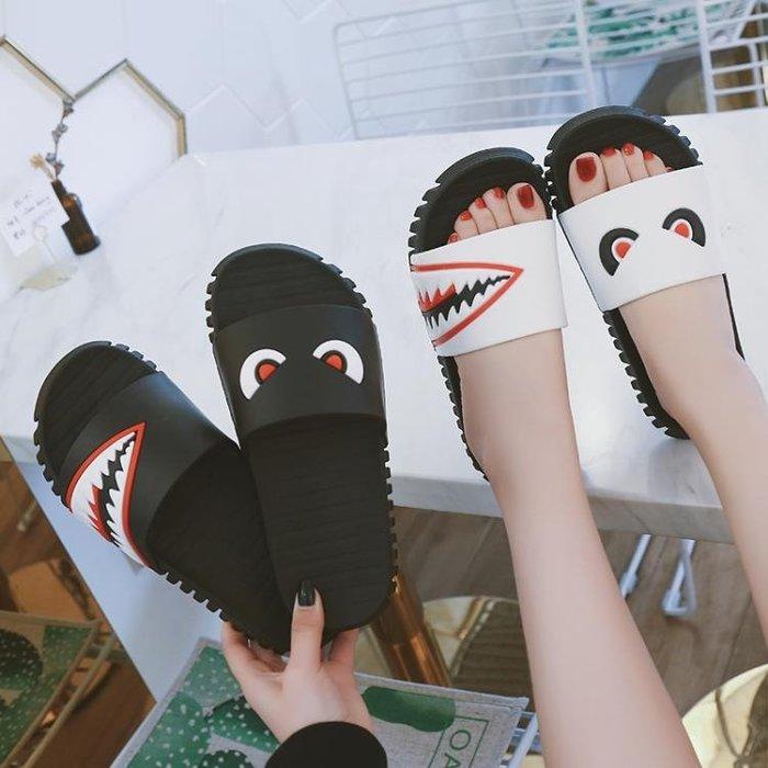 拖鞋女夏室內外情侶防滑浴室家用厚底一家三口軟底可愛家居親子鞋616-135