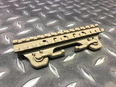 【 AKA airsoft】14cm 快拆 魚骨 增高座 ARMS 19 THROW LEVER MOUNT