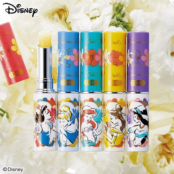 ~BOBO小舖~日本限定 DHC純欖護唇膏1.5g 迪士尼公主 白雪公主、灰姑娘、小美人魚、貝兒、茉莉(任選不挑款)