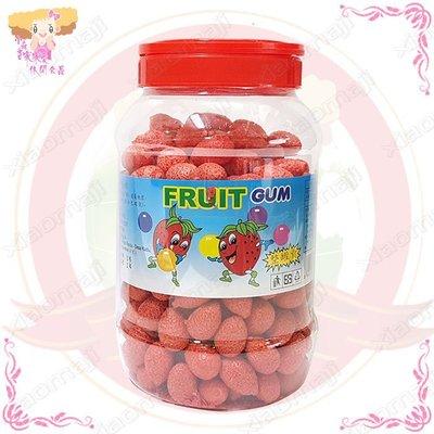 ☆小麻吉家家愛☆金陽草莓口香糖(全素)一罐240入量販價240元 糖果 零嘴 另有小包裝零售價