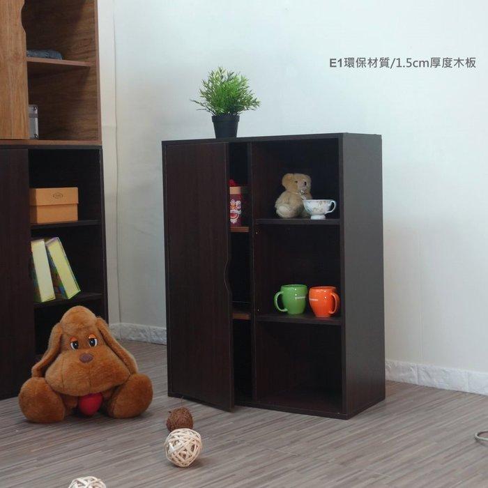 生活大發現-DIY-現代單門六格書櫃/展示架(附門款式/寬69公分)