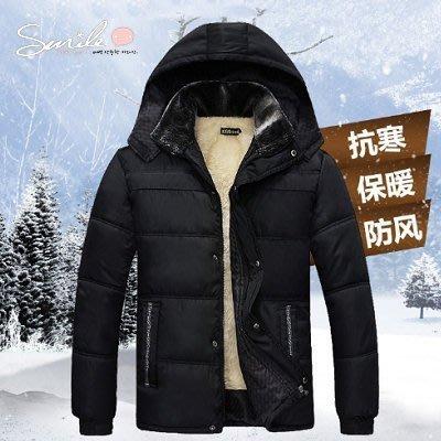 【Y995】SMILE-實穿時尚.冬裝加絨加厚棉襖保暖連帽外套