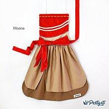 **party.at**海洋奇緣Moana 兒童圍裙 2-8Y 聖誕節服裝 萬聖節 迪士尼 冰雪奇緣 長髮公主 小美人魚