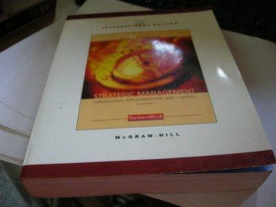 《Strategic Management:Formulation Implementation and Control》0071198687