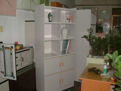 【塑鋼舒美櫥櫃設計~訂做】~不生蛀蟲.不長白蟻~大理石色~精美塑鋼書櫥~精品收納櫃~