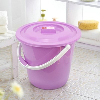 儲水桶家用水桶耐摔手提塑料洗衣泡腳洗車桶有無蓋桶盆套裝學生宿舍   全館免運