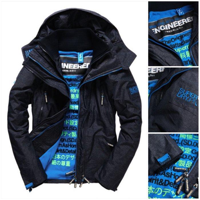 跩狗嚴選極度乾燥 Superdry Arctic Attacker 三層拉鍊 多口袋保暖刷毛 攻擊者 外套 風衣 灰藍