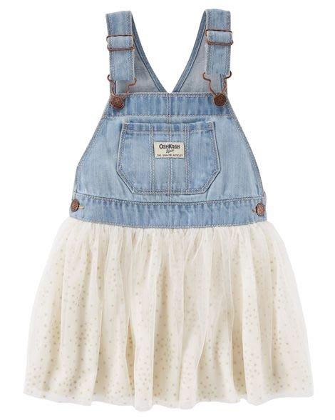 *Elaine小舖逛街趣*美國Oshkosh 正品氣質經典白色吊帶澎澎紗裙 3T 4T