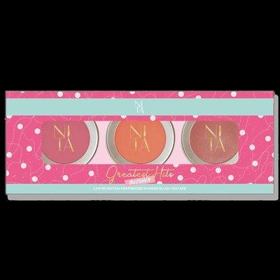 馬來西亞 新品牌 NITA 限量 3顆 腮紅禮盒組 Mixtape Mini Blusher Set
