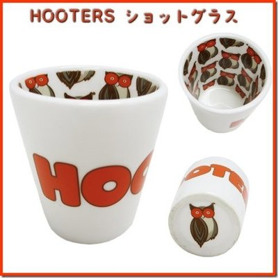(I LOVE樂多)美國Hooters美式餐廳 貓頭鷹 子彈杯 一口杯 小酌杯 送人自用兩相宜