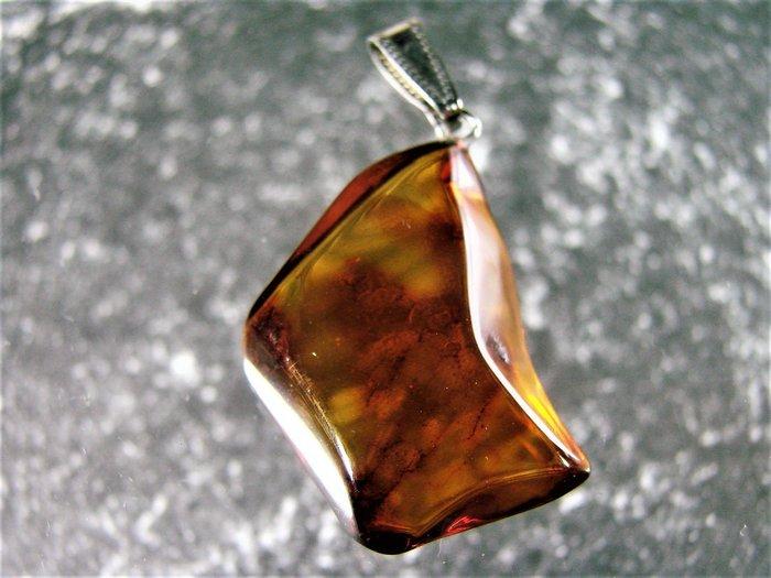 *·.精品釋出.·*保真 波羅的海 珠寶等級【 純天然琥珀 吊墜】D67b玩古金銀