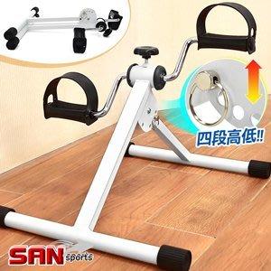 折疊式手足健身車(高低調整)迷你臥式美腿機單車腳踏器兩用手腳訓練器室內摺疊腳踏車自行車運動健身B009-814【推薦+】