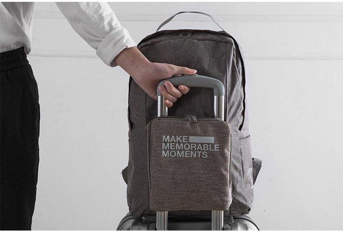 FADISH法蒂希簡約便擕可折疊旅行雙肩包 男女行李包 登機包 雙肩背包