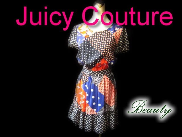 *Beauty*Juicy Couture花花短袖洋裝  WE14