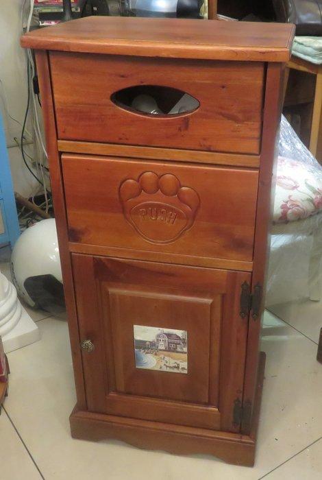 (全實木)磁磚垃圾桶置物櫃.收納櫃.花架--.