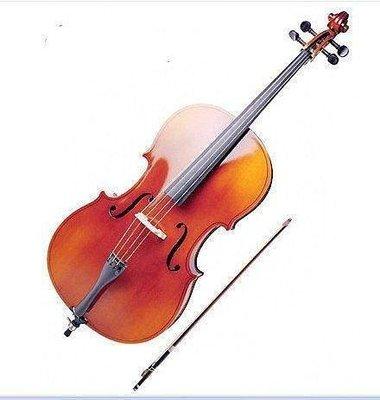 【格倫雅】^高品質手工道具裝飾攝影動感大提琴 物美價廉 棗紅亮光仿古大提琴46868[