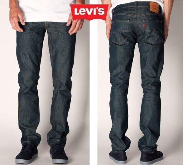 【 超搶手 】USA 美國 Levis Skinny Jeans 511-0408 RINSED PLAYA 窄板 合身牛仔褲 深藍色 W28-W36