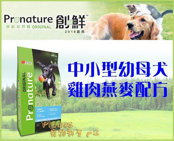 【Plumes寵物部屋】創鮮Pronature《養生犬系列-中小型幼母犬-雞肉燕麥》2.27kg-幼犬母犬狗飼料【免運】