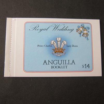 【雲品二】安圭拉Anguilla Sc 444c,446c Diana Booklet MNH 庫號#B503 50517