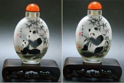 國寶熊貓內畫鼻煙壺外事商務禮品出國禮品中國特色手工藝品送長輩手繪 壺說23