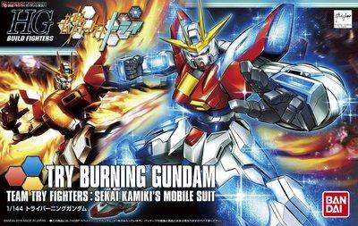 鋼彈BF HGUC 1/144 028 燃燒鋼彈試驗機 TRY BURNING GUNDAM(起標價就是值購價)