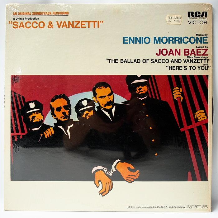 電影配樂 Sacco & Vanzetti【死刑臺的旋律】美國首版 Ennio Morricone  Joan Baez