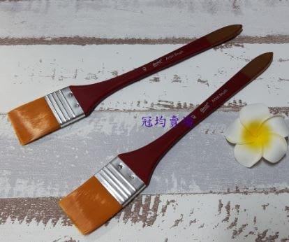 長桿酒紅尼龍筆(3號)/蝶古巴特 Decoupage 拼貼 帆布袋 木器 彩繪 胚布 DIY 黏土 手作