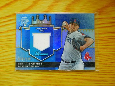 Matt Barnes 2012 Bowman Future Game Relic 新人 球衣卡 限199
