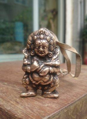 【紅蓮賞翫】銅雕 二臂瑪哈嘎拉(5.8cmx3.4cm)