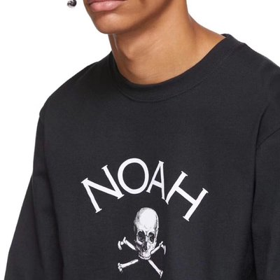 NOAH NYC Jolly Roger L/S T-Shirt 骷髏 長袖T恤 長TEE 男女 黑色 白色