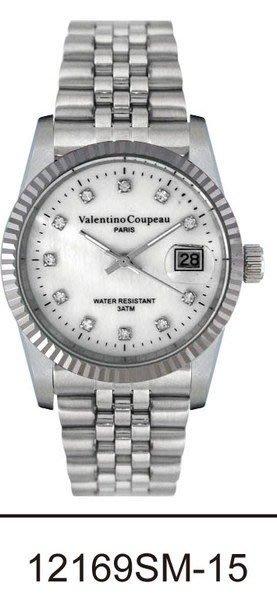 (六四三精品)Valentino coupeau(真品)(全不銹鋼)精準男錶(附保証卡)12169SM-15