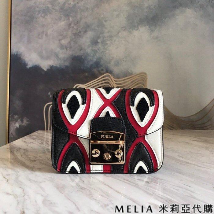 Melia 米莉亞代購 商城特價 數量有限 每日更新 19ss FURLA 芙拉 經典豬鼻包 單肩斜背包 黑白色拚紅
