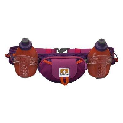 【山野賣客】Nathan Tral Mix Plus (600ml)雙水壺腰包 慢跑 長跑 半馬 長馬 馬拉松(莓紅/橘