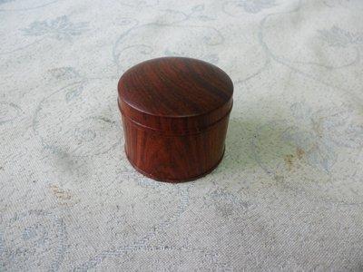 紫色小館38--------正清老品海南黃花梨木小罐
