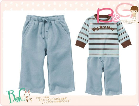 【B& G童裝】正品美國進口GYMBOREE Fleece Pant藍色內軟刷毛長褲2,3yrs
