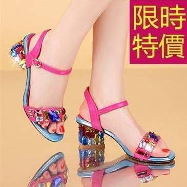 涼鞋水鑽高跟-經典款氣質夏季休閒女鞋子3色55l26[韓國進口][米蘭精品]